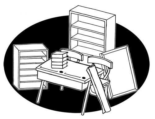 image de mobilier en dessin